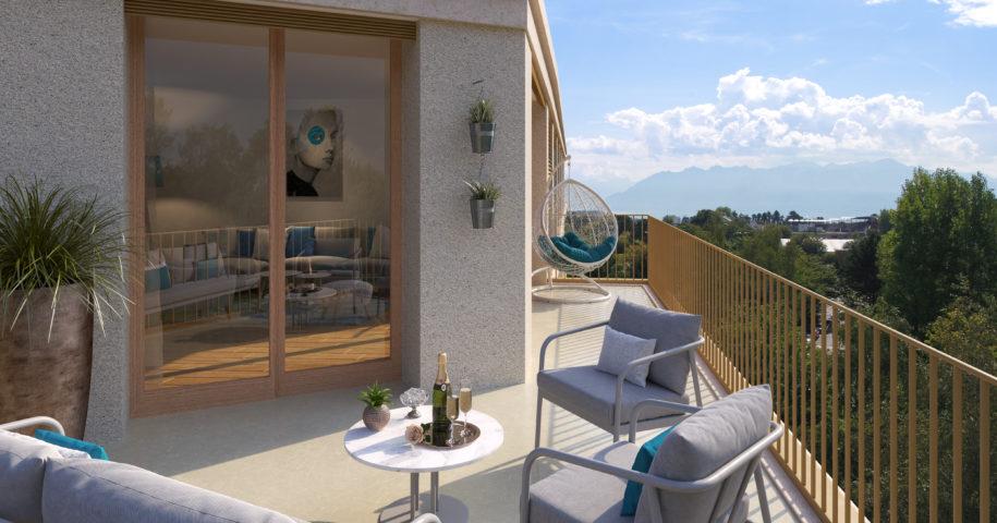 Terrasse appartement 611